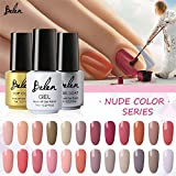 Generic UV Gel Polish for Nail Art (Nude Colour) - Set of 4
