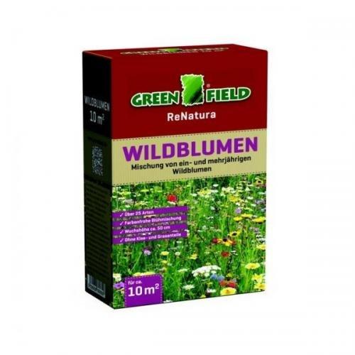 Greenfield Wildblumen 0,25 kg Faltschachtel, Rasensamen, Rasensaat