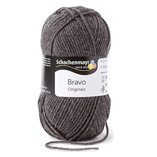 Schachenmayr Bravo 9801211-08319 mittelgraumeliert Handstrickgarn, Häkelgarn