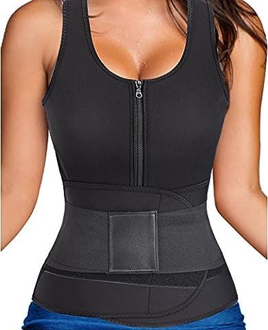 Gotoly Hot Sweat Body Shaper Tank Top Bauch Fett Burner Abnehmen Fitness Studio Sauna (2XL Für 48-50, (Power Body Shaper)