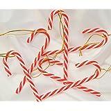 ###Baumbehang Zuckerstangen, 6 St., rot/weiß, Kunststoff###