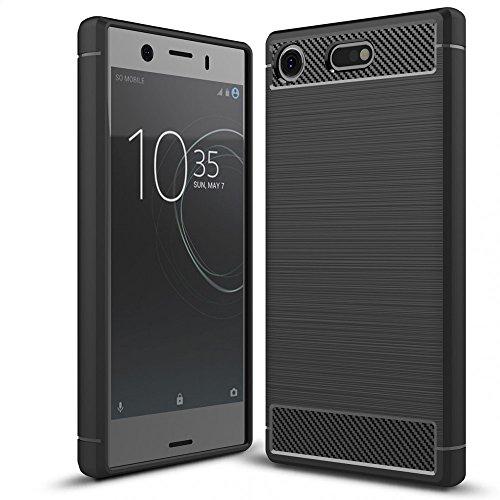 NALIA Handyhülle kompatibel mit Sony Xperia XZ1 Compact, Ultra-Slim Silikon Case Cover Dünne Hülle Crystal Phone Schutzhülle, Etui Handy-Tasche Backcover Bumper, TPU Smartphone Gummihülle - Schwarz