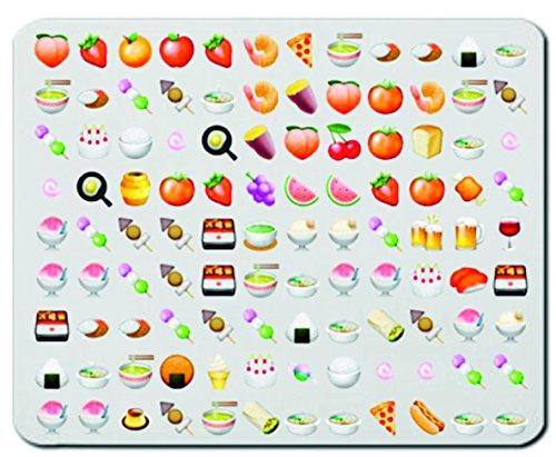 """Mauspad """"Obst Gemüse Vegan Vegetarische Smileys"""" Mousepad, Handauflage, Gamepad, Handgelenkauflage, Windows, Notebook, PC"""