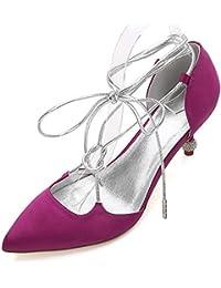 L@YC Zapatos de Boda Para Mujer 17767-27 Comfort Satin Spring Summer Vestido de Noche y Fiesta de Boda Champagne...