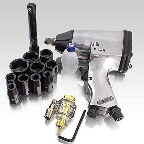 BITUXX Druckluft Schlagschrauber Set 17-teilig Pneumatik Luftdruck Schlag Schrauber