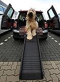 Lüllmann Auto Hunderampe klappbar Kunststoff Anti-Rutsch 155 x 40cm bis 90kg...