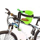 TJ Bicicletta Seggiolino Anteriore Seggiolino Di Sicurezza Seggiolino Assicurato Seggiolino Anteriore Mountain Bike Seggiolino Per Bambini,Green