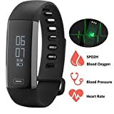 Fitness Tracker-Evfun Waterproof Activity Tracker Smart Fitness Bracelet Blood Pressure Monitor Oxygen Saturation Monitor activity tracker Heart Rate Monitor Support iPhone Android Smartphone