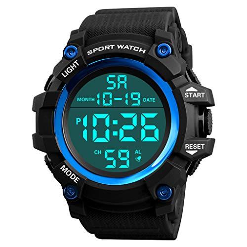 friendGG Wasserdichte Armbanduhr Der Luxusmann-Analog-Digital-MilitäRsport-Led Der MäNner Damen Uhren Analog Quarz Edelstahl Armband Wasserdicht Mesh