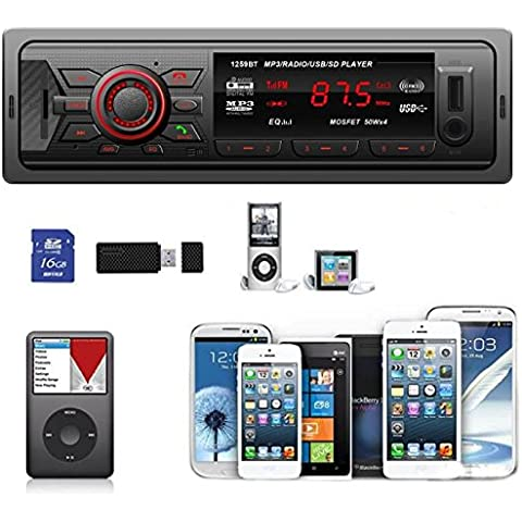 POTOBrand, en el tablero coche Bluetooth Audio estéreo Jefe Unidad MP3/USB/SD/AUX/FM entrada AUX