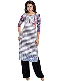 Kashish By Shoppers Stop Womens Round Neck Printed Kurta