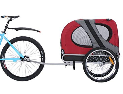 Leonpets Haustier Fahrradanhänger Hundewagen Transporter mit Universalkupplung Rot 10117