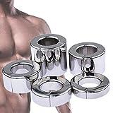 ZWFUN Edelstahl Ballstretcher CBT Hodengewicht FüR MäNne Hodenring Magnetisch Gewicht: 216-872 g...