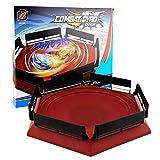 Arena Compatible para Beyblade, 38,5 X 34cm Disco Burst Gyro Arena Disco De Duelo Emocionante Spinning Top Launcher Accesorios De Juguete para Niños Niños Regalos De Cumpleaños De Navidad Rojo