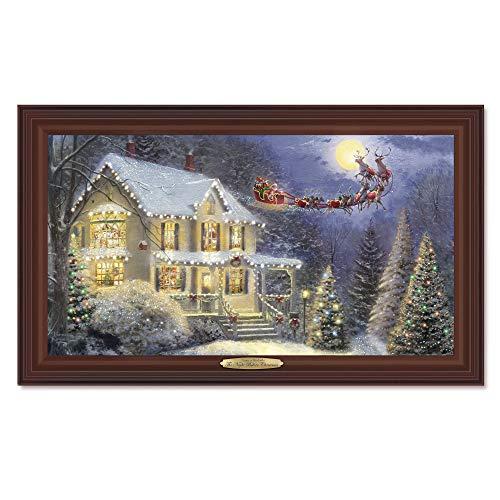 The Bradford Exchange Santa Claus bringt die Geschenke - Leinwanddruck