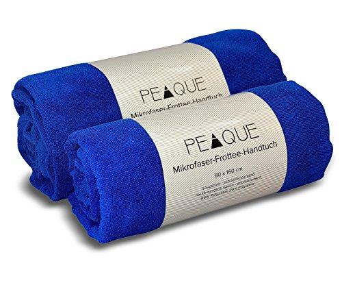 Mikrofaser Frottee Handtuch - schnelltrocknend, leicht, extrem saugfähig, antibakteriell, pH-hautneutral, frei von gesundheitsschädlichen Färbemitteln - Strandtuch, Reisehandtuch, Saunatuch, Badetuch, Microfaser Sporthandtuch (Royalblau, 100x200 cm)