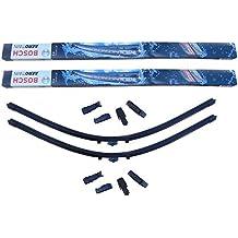 Bosch Aerotwin Plus - Limpiaparabrisas Clase C W204 + Limpiador de cristal Wurth