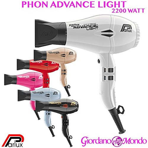 Phon capelli asciugacapelli professionale per parrucchiere 2200 watt advance light parlux