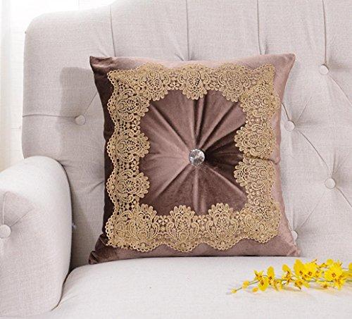 LY&HYL velluto tessile colore diamante solido pizzo principessa divani cuscino quadrato cuscini , 3 , 45*65