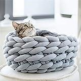 Bonwg Dicke Wolle Handgewebte Katze und Hundetier,56