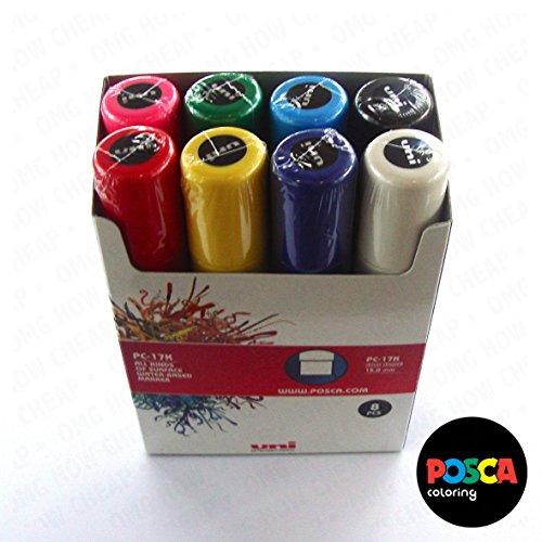 POSCA-Mallette Coloriage-PC- 17 k gamme Lot de 8-Dans coffret cadeau