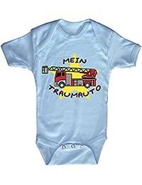 Baby Body werde Feuerwehrmann Bodys 0-24 Monate Strampler 08487