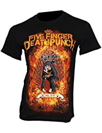 Five Finger Death Punch – T-Shirt Burn In Sin Band T-Shirt Medium