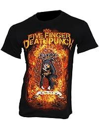 Five Finger Death Punch–T-Shirt Burn In Sin Band T-Shirt Medium