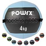 POWRX - Wall ball de 2 a 10 kg - Ideal para Cross training y fortalecimiento muscular - Peso y color a elegir (2 kg / Amarillo)