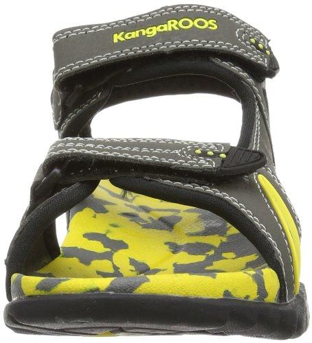 KangaROOS Sinclair 2, Jungen Knöchelriemchen Sandalen Grau (dk grey/yellow 270)