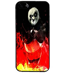 PrintDhaba Panda D-4386 Back Case Cover for APPLE IPHONE 5S (Multi-Coloured)