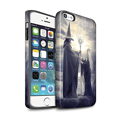 Officiel Elena Dudina Coque / Matte Robuste Antichoc Etui pour Apple iPhone SE / Maestro/Sorcier Design / Magie Noire Collection Maestro/Sorcier