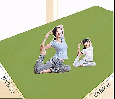 MDRW-Amateurs De Yoga Grande Chambre Double Tapis De Yoga Élargir L'Épais Tapis De Danse Sans Odeur Long Antiglisse Enfants Coussins Pratique 185*122Cm Vert Tapis De Yoga