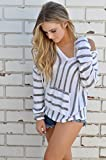 Search : Women's Stripe Pullover Hoodie Cardigan Oversized Loose Fit Hooded Knit Sweater Sweatershirt Top