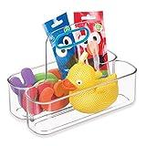 iDesign IDjr Organizer mit 2 Fächern und Griff, kleine Tragebox für Babynahrung, Badartikel usw. aus Kunststoff, durchsichtig und blaugrün