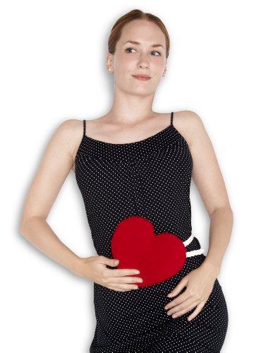 Leschi WÄRMEKISSEN lindert Rücken- und Bauchschmerzen/für Mikrowelle und Ofen/Körnerkissen für Damen, Kinder und Babys/Herz groß, rot