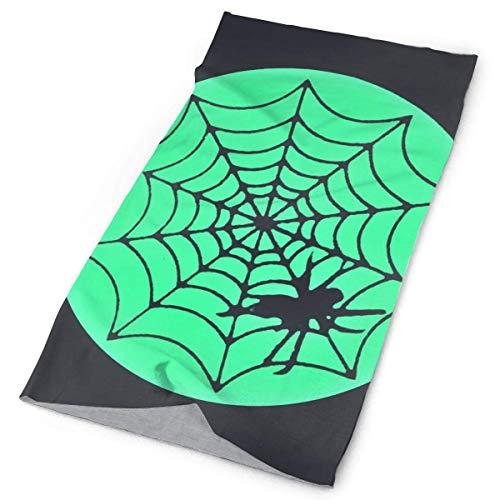 Jolly2T Spider Web Glow In The Dark Bandanna Headwear Neck Gaiters Variety Scarf Wrap