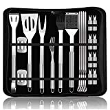 Best Bbq Accessories - YHmall BBQ Grill Tools Set - 20pcs Stainless Review