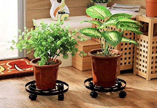 JAZS® Blumenständer, Bügeleisen Blumentopf Schüssel Balkon Home Bewegliche runde Topfpflanzen Basis Blumentopf Rack Lagergestell 30 × 7cm Umweltschutz raffiniert ( Farbe : #2 ) -