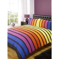 Soho Multi Stripe Duvet Cover Quilt Bedding