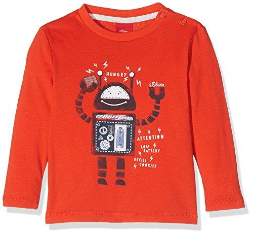 s.Oliver Baby - Jungen Spieler T - SHIRT LANGARM 65.707.31.7150, Einfarbig, Gr. 92, Rot (Red)