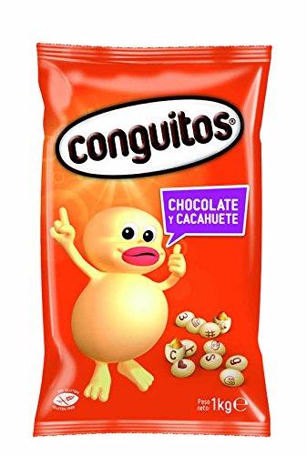 Erdnuss-schokolade (Conguitos Blancos - Erdnuss mit weißer Schokolade - 1000 gr)