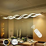 LED Pendant Light Ziplig Hting Minimalistic of Acrylic Wavy Ceiling Pendant Light Shade Chandelier for Living Room Bedroom Hotel Room, Adjustable Height Adjustable (0.8 – 1 m) 80 W 3000 K