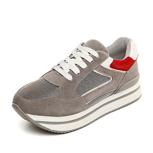 BTJC Nuovo autunno ladies sneaker scarpe in pelle all'ingrosso piattaforma