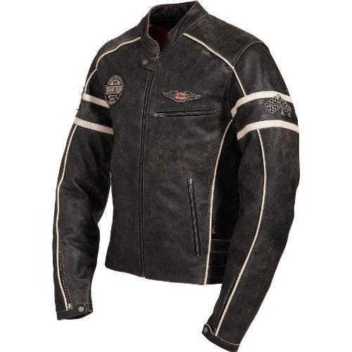 Motorradjacke Spirit Motors Retro-Style Lederjacke 1.0 schwarz/beige XXL - 3