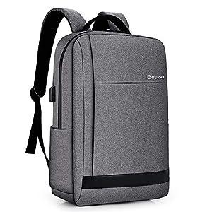 5109rR6UqEL. SS300  - BestoU Mochila portatil 15.6 Pulgadas Laptop Backpack USB Mochilas Hombre Casual Impermeable antirobo (Gris)