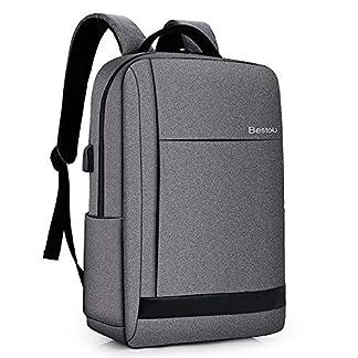 5109rR6UqEL. SS324  - BestoU Mochila portatil 15.6 Pulgadas Laptop Backpack USB Mochilas Hombre Casual Impermeable antirobo