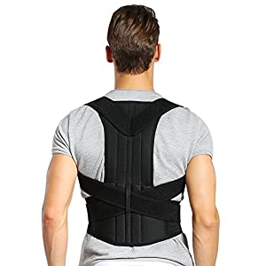 DOACT Posture Corrector Back Brace Waist Wide Straps Support with Adjustable Size for Upper Back Pain Relief, Improvre Sitting and Standing Posture