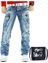 Cipo & Baxx Herren Jeans CD272 inkl. Tasche
