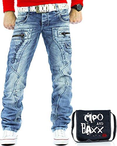 Cut Swag (Cipo & Baxx Herren Jeans CD272 inkl. Tasche W31/L32)